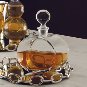 ROUND GLASS DECANTER-OFFSET SHAPE