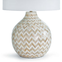 Load image into Gallery viewer, Chevron Bone Table Lamp