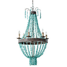 Load image into Gallery viewer, Beaded Turquoise Chandelier