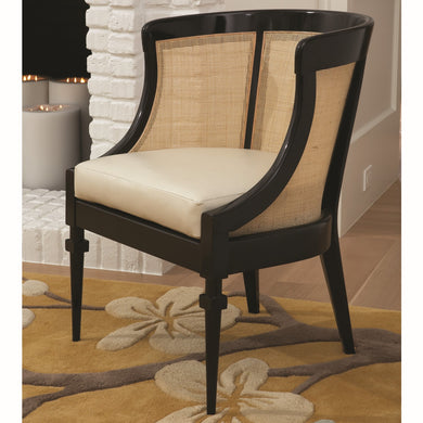 CANE CHAIR-BLACK by Global Views