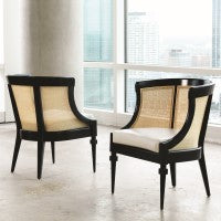 Load image into Gallery viewer, CANE CHAIR-BLACK by Global Views