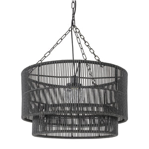 Tanner Outdoor Pendant Drum, Black