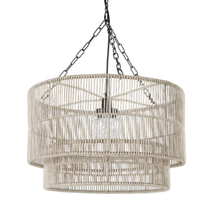 Tanner Outdoor Pendant Drum, Natural