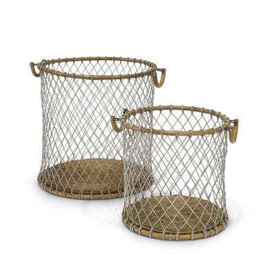 Nantucket Wire Baskets, Set Of 2