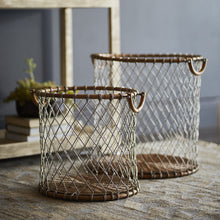 Load image into Gallery viewer, Nantucket Wire Baskets, Set Of 2