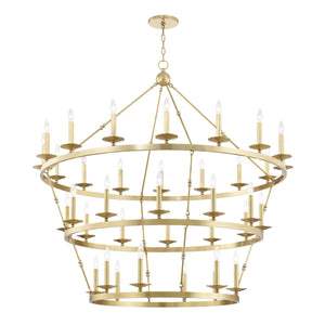 ALLENDALE Three-Tier Chandelier by Hudson Valley