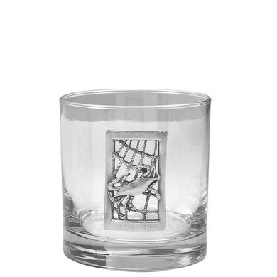 Bungalow's Crab Net Old Fashioned Glasses - set of 4