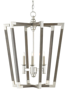 Bastian Small Gray Chandelier by Currey and Company