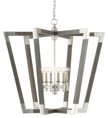 Bastian Large Gray Chandelier by Currey and Company