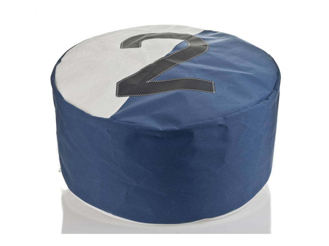 Pouf Duo Bicolor Dacron Nattier Blue 2 Grey by 727 Sailbags
