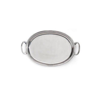 Peltro Medium Oval Tray with Handles