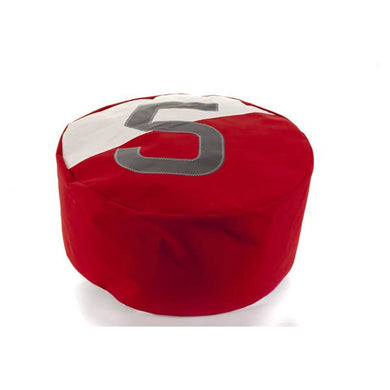 Pouf Duo Bicolor Dacron Brewery Red 5 Grey by 727 Sailbags