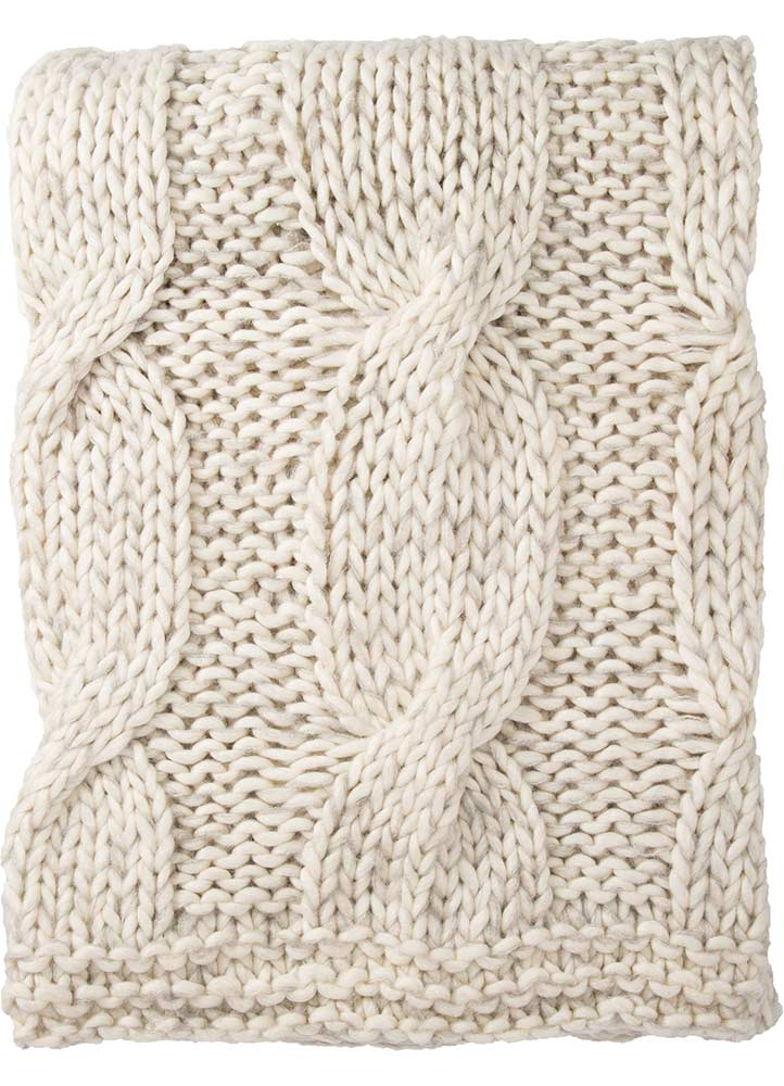 Serin Ivory Throw