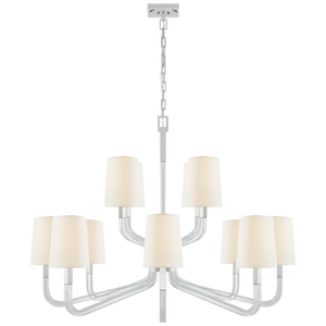 Reagan Grande Two Tier Chandelier by Visual Comfort
