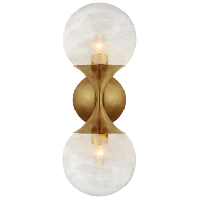 Cristol Small Double Sconce by Visual Comfort