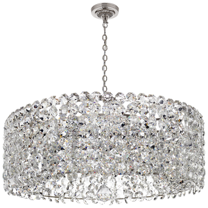 Sanger Grande Chandelier in Polished Nickel with Crystal by Visual Comfort