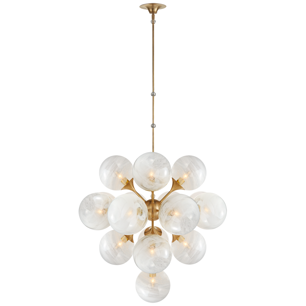 Cristol Large Tiered Chandelier by Visual Comfort