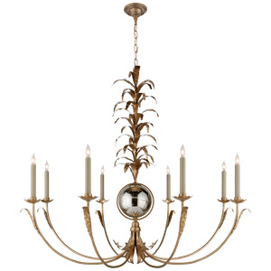 Gramercy Large Chandelier in Gilded Iron by Visual Comfort