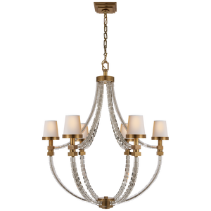 Crystal Cube Basket Chandelier by Visual Comfort