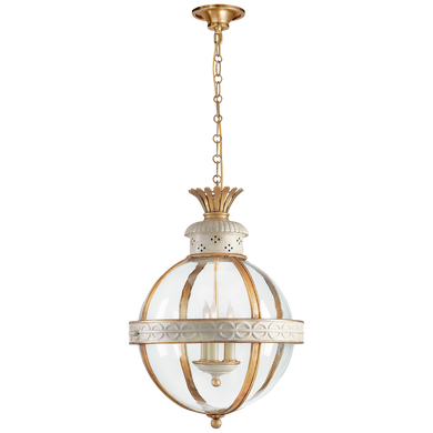 Crown Top Banded Globe Lantern by Visual Comfort