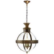 Load image into Gallery viewer, Crown Top Banded Globe Lantern by Visual Comfort