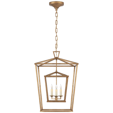 Darlana Medium Double Cage Lantern by Visual Comfort