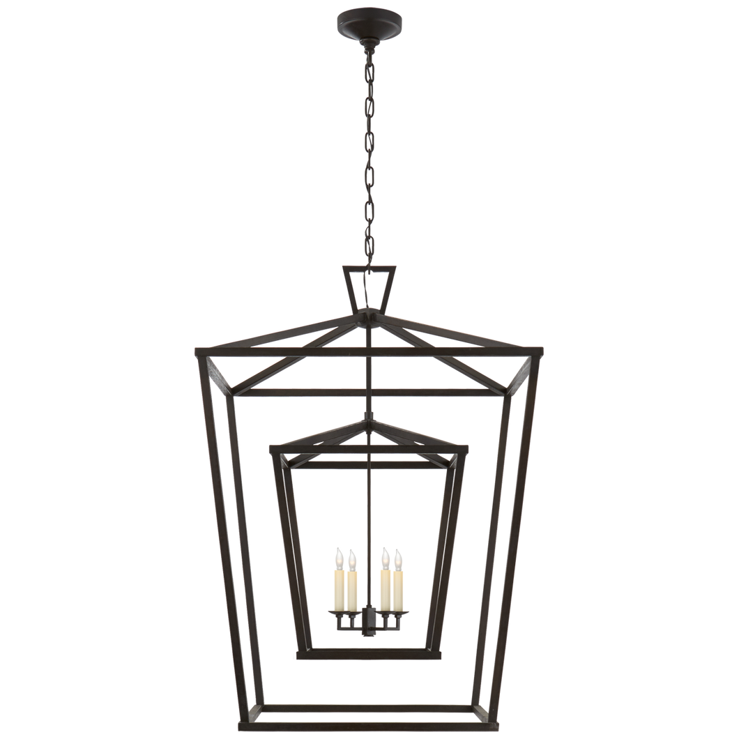 Darlana Double Cage Lantern by Visual Comfort