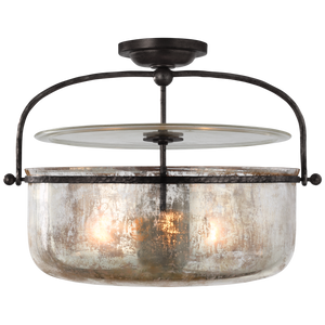 Lorford Medium Semi-Flush Lantern by Visual Comfort