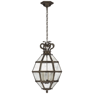 Venezia Medium Faceted Scroll-Top Lantern by Chapman & Meyers