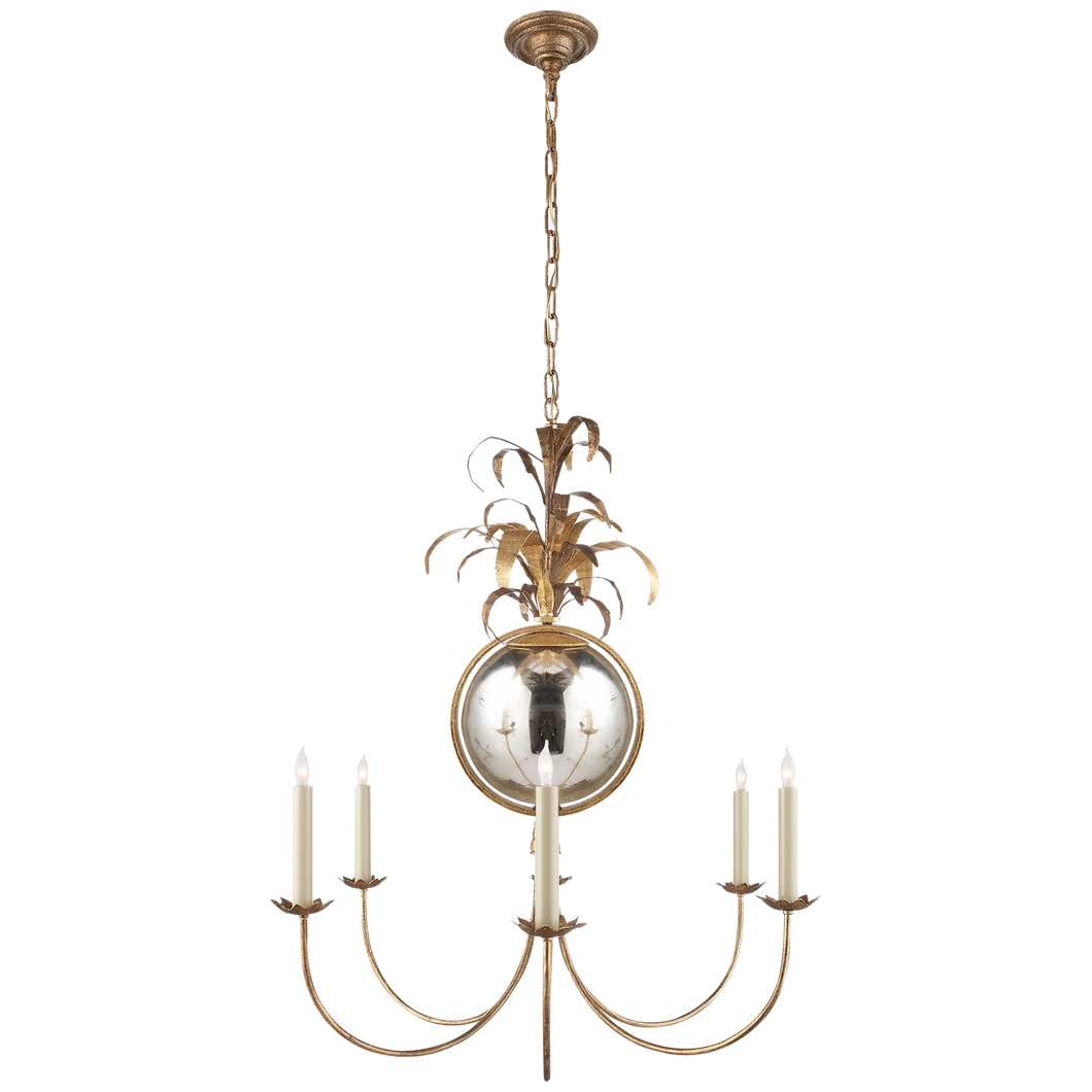 Gramercy Medium Chandelier in Gilded Iron by Visual Comfort