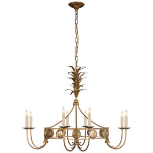 Gramercy Medium Ring Chandelier in Gilded Iron by Visual Comfort