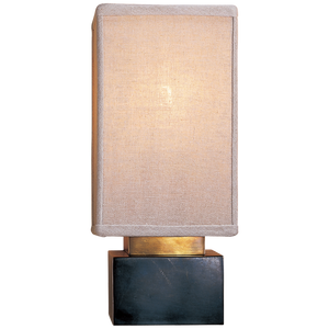 Chelsea Sconce in Bronze with Linen Shade by Visual Comfort