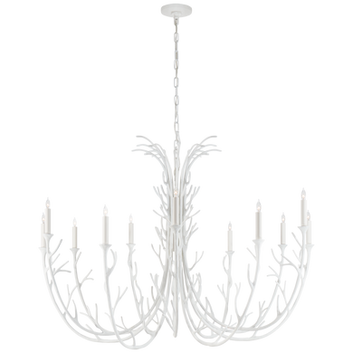 Silva Grande Chandelier in Plaster White by Julie Neill
