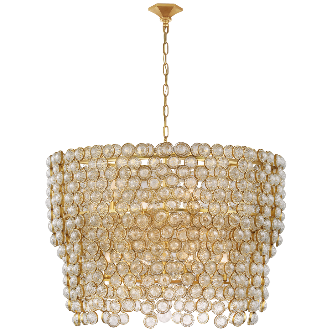 Milazzo Large Waterfall Chandelier by Visual Comfort