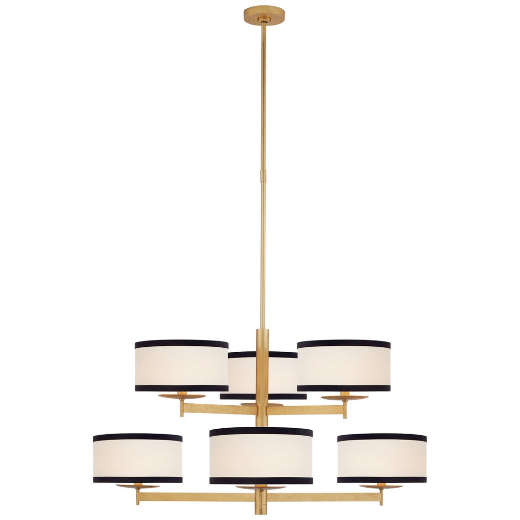 Walker Medium Two Tier Chandelier by Visual Comfort
