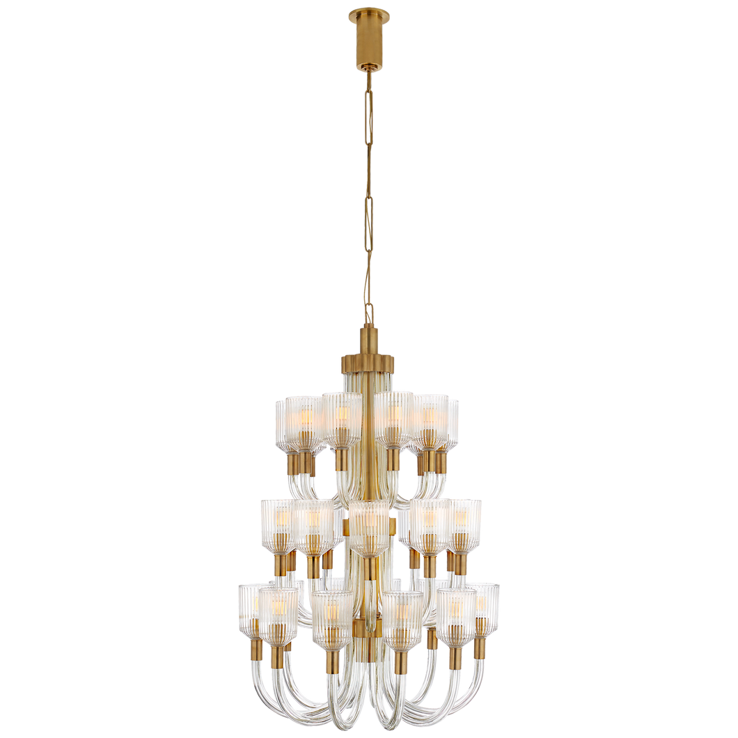 Reverie Large Three-Tier Chandelier by Visual Comfort