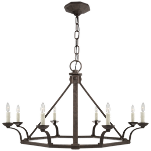 Robertson Single Tier Chandelier in Natural Rust by Visual Comfort
