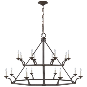 Robertson Double Tier Chandelier in Natural Rust by Visual Comfort