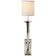 Load image into Gallery viewer, French Deco Horn Sconce with Linen Shade by Studio VC