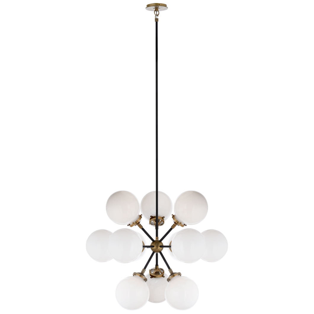 Bistro Small Round Chandelier by Visual Comfort