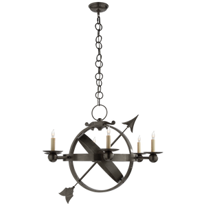 Armillary Sphere Chandelier by Visual Comfort