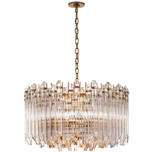 Adele Large Wide Drum Chandelier by Visual Comfort