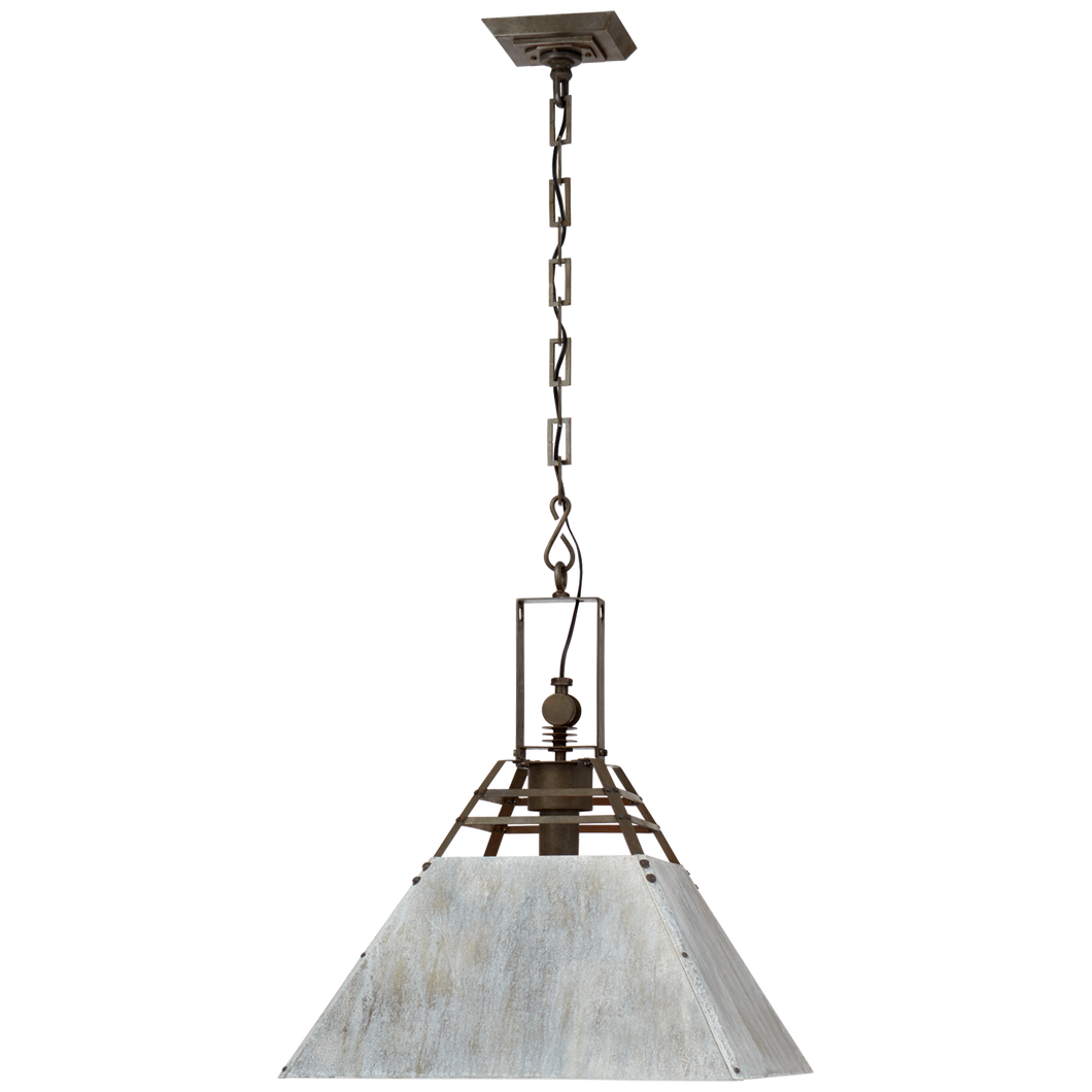 Pierre Medium Pendant in Vintage Steel and Oxidized Gray by Visual Comfort