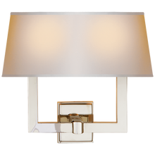 Load image into Gallery viewer, Square Tube Double Sconce w/ Rectangle Shade