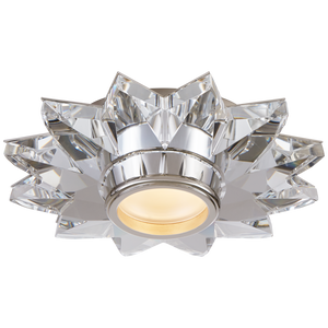 "Elora 7.25"" Solitaire Flush Mount in Crystal by J. Randall Powers"
