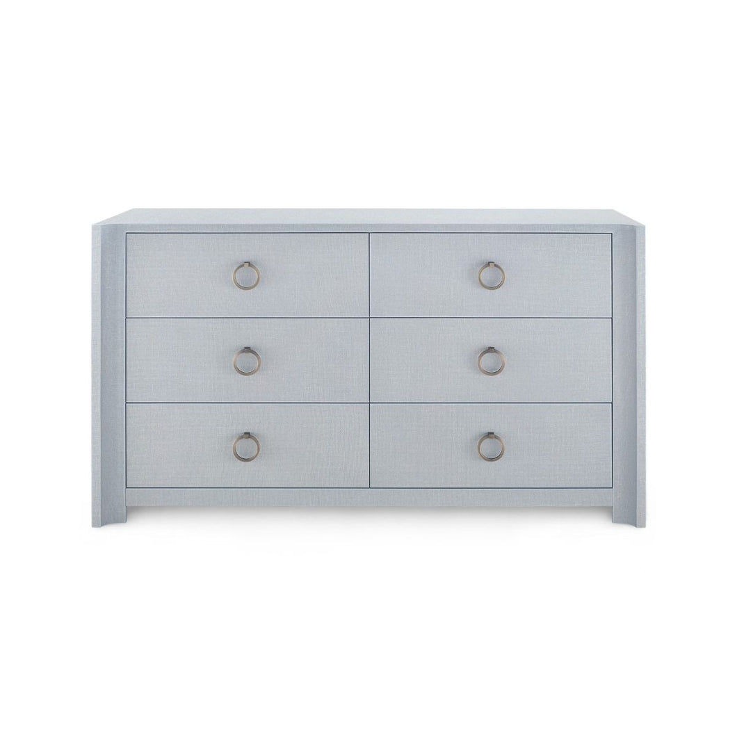 AUDREY EXTRA LARGE 6-DRAWER, GRAY