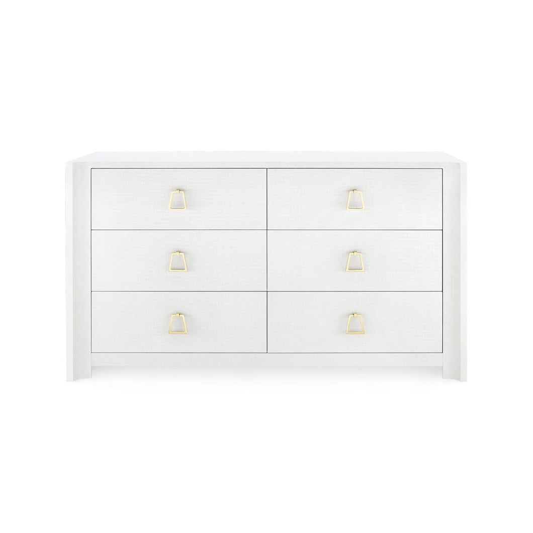 AUDREY EXTRA LARGE 6-DRAWER, WHITE