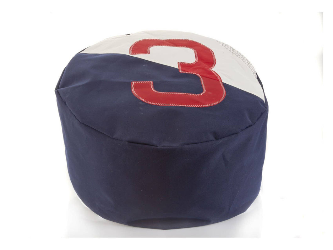 Pouf Duo Dacron Navy 3 Red by 727 Sailbags