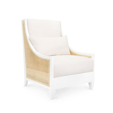 RALEIGH CLUB CHAIR, WHITE