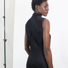 Load image into Gallery viewer, Black Turtleneck Sleeveless Dress